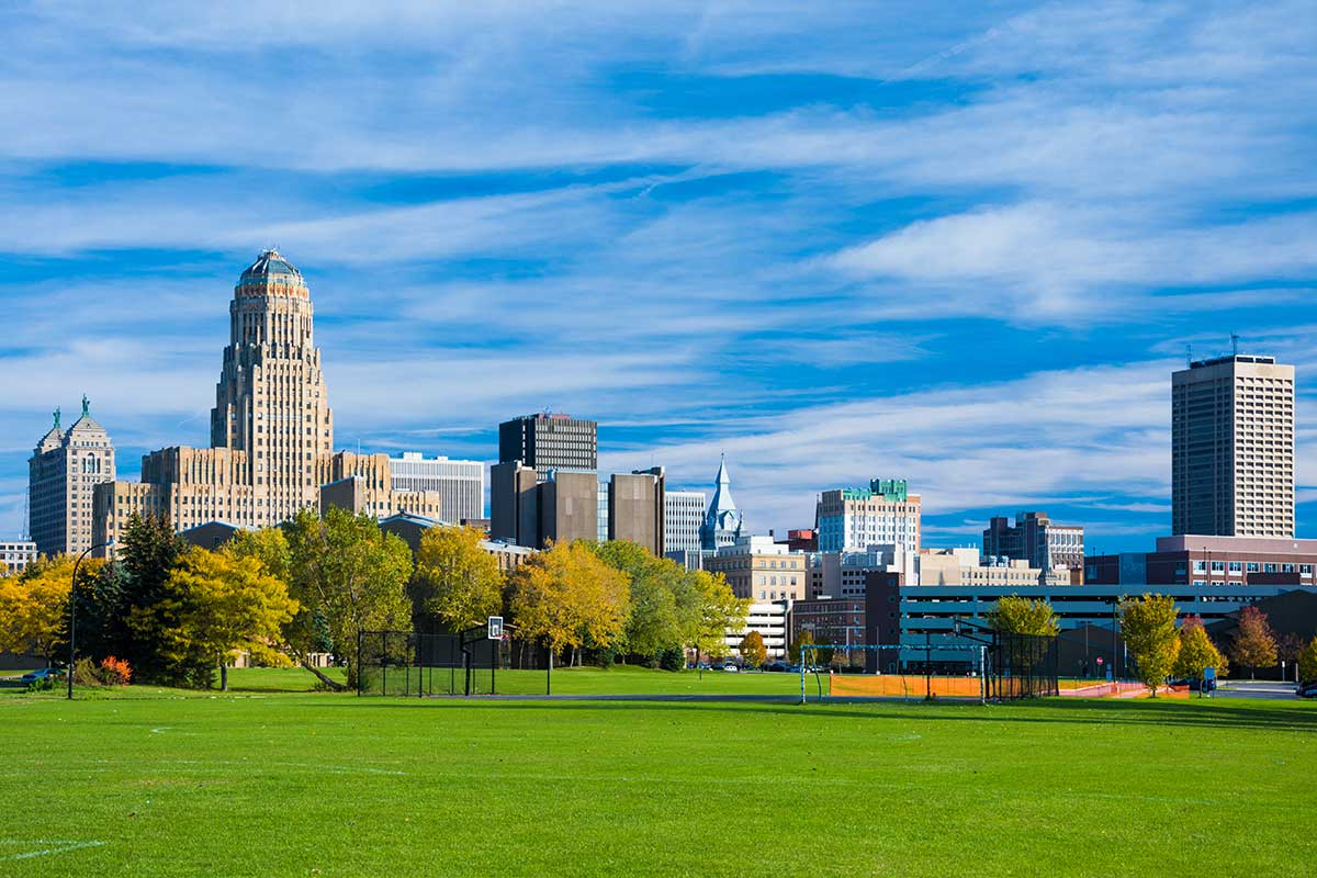City view of Buffalo New York
