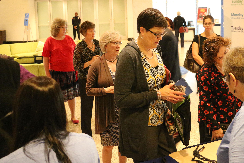 People at Registration